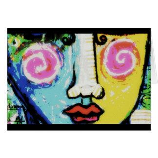 Den flicka, en digitalt förändrad målning OBS kort