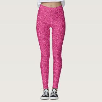 Den flickaktigt kvinnliga rosa konfettin pricker leggings