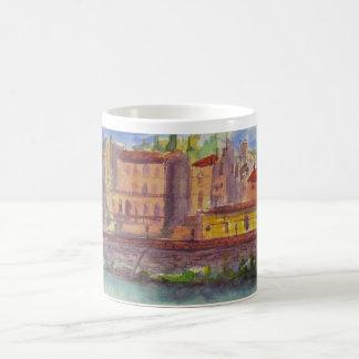 Den Florence italien, beskådar över Arnoen Kaffemugg