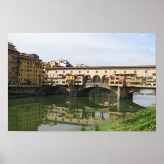 Den Florence italien överbryggar Posters