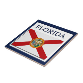 Den Florida flaggadesignen belägger med tegel Kakelplatta