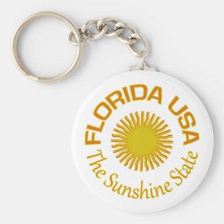 Den Florida nyckelringen - välj stil Rund Nyckelring