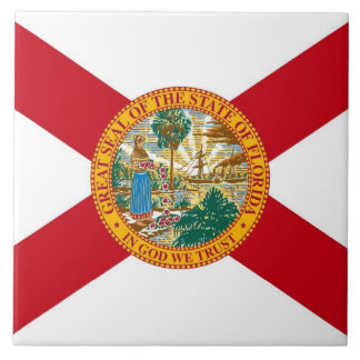 Den Florida statlig flagga belägger med tegel Kakelplatta