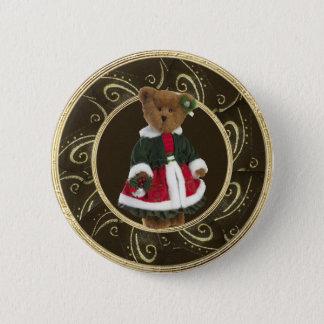 Den flott festliga nallen knäppas flickaktigt standard knapp rund 5.7 cm