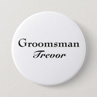 Den flott groomsmanen knäppas mellanstor knapp rund 7.6 cm
