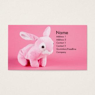 Den flott kaninen profilerar kortet visitkort