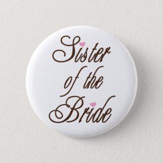 Den flott systern av bruden bryner standard knapp rund 5.7 cm