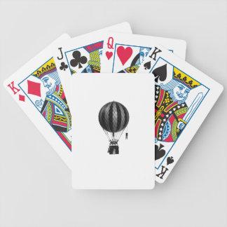 Den flott vintageluftballongen väljer färg spelkort