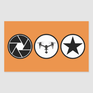 Den flyg- fotografen DJI inspirerar Rektangulärt Klistermärke
