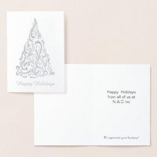 Den företags Luxe julgranen Julhälsningar Folierat Kort
