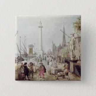 Den forntida porten av Antwerp Standard Kanpp Fyrkantig 5.1 Cm