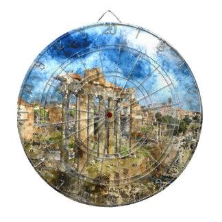 Den forntida romaren fördärvar i den Rome italien Piltavla