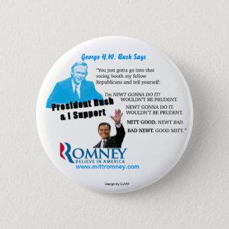 Den försiktiga Romney newten klämmer fast Standard Knapp Rund 5.7 Cm