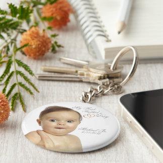 Den första fars dag knäppas Keychain - skräddarsy Rund Nyckelring
