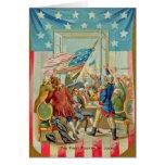 Den första fourthen av kortet för Juli vintagehäls Kort
