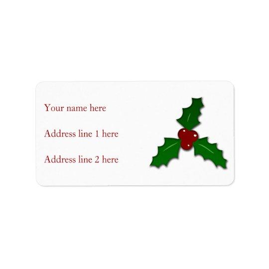 Den förtjusande heligan fattar jul adressetikett