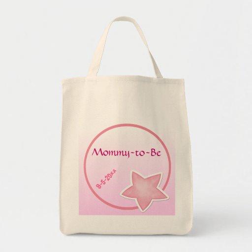 Den förtjusande rosa stjärnan, Mamma-till-Är baby  Tygkassar