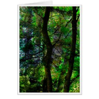 den förtrollade skogen hälsningskort
