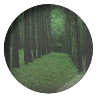 Den förtrollade skogen pläterar tallrik