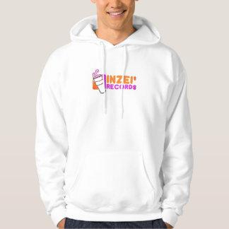 den förvridna inzeien antecknar logotypvithoodien sweatshirt
