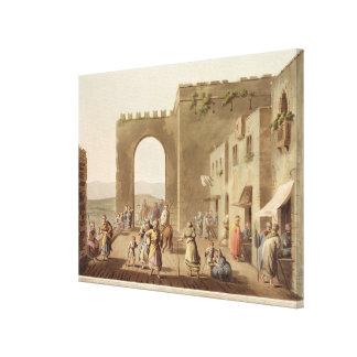 Den främsta gatan i Bethlehem, från 'beskådar av Canvastryck