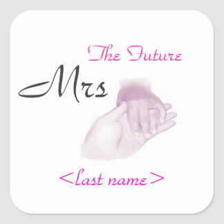 Den framtida Fru Fyrkantigt Klistermärke