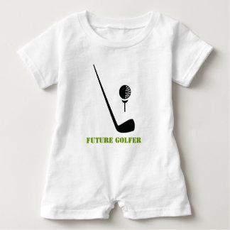 Den framtida golfareklubben och boll svärtar, den tee shirt