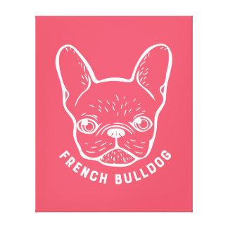 Den franska bulldoggen fodrar konst canvastryck