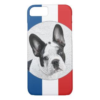 Den franska bulldoggen skissar