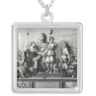 Den franska konstitutionen silverpläterat halsband
