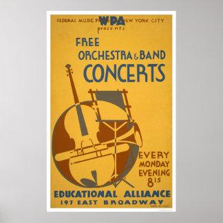 Den fria orkesteren avtalar 1938 WPA Print