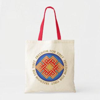Den fria Tibet ändlösa fnurratotot hänger lös Tygkasse
