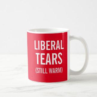 Den frisinnade tårar stillar varmt kaffemugg