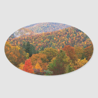 Den frodiga platsen landskap appalachianen ovalt klistermärke