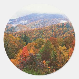 Den frodiga platsen landskap appalachianen Carolin Runda Klistermärken