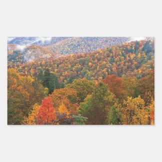 Den frodiga platsen landskap appalachianen Carolin Rektangelformade Klistermärken