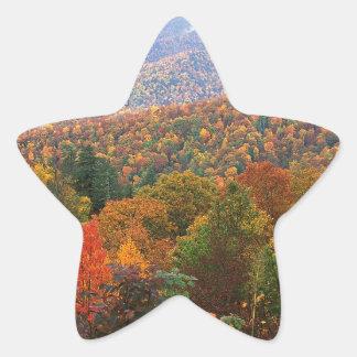 Den frodiga platsen landskap appalachianen stjärnformat klistermärke