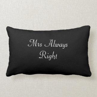 Den Fru dämpar alltid högert bröllop/bruden Lumbarkudde