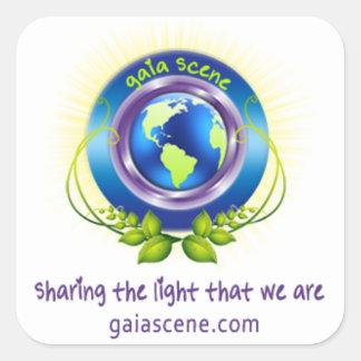 Den Gaia platsen kvadrerar klistermärkear Fyrkantigt Klistermärke