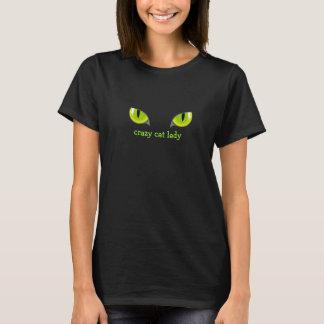 Den galna kattdamkatten synar T-tröja T Shirt