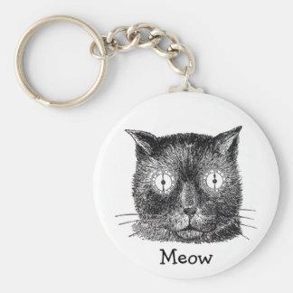 Den galna katten med tar tid på öganyckelringen rund nyckelring