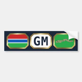 Den Gambia flaggakartan kodifierar bildekalet Bildekal