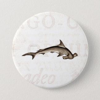 Den gammala hajen för vintage1800shammerheaden mellanstor knapp rund 7.6 cm