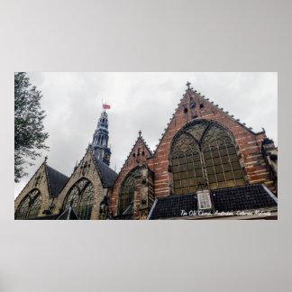 Den gammala kyrkan, Amsterdam Poster