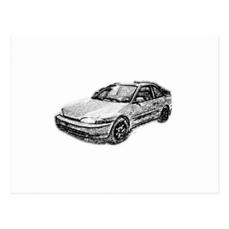 Den gammala Mitsubishi hägringen Vykort