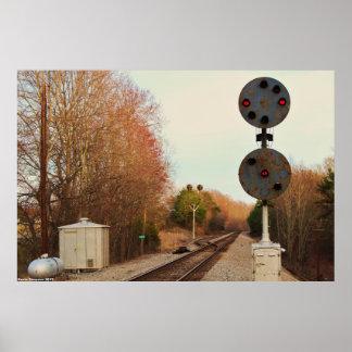 Den gammala och original- N&W-järnvägen signalerar Poster
