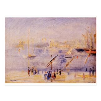 Den gammala porten av Marseille, folk och fartyg Vykort