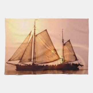 Den gammala seglingen sänder kökshandduken kökshandduk