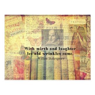 Den gammala uppsluppenhet och laughteren rynkar vykort