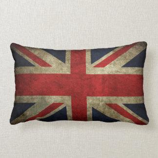 Den gammala urblekta brittiska fackliga jackflagga lumbarkudde